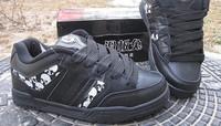 Plus size 45 Men's Lace Up Skateboard Shoes Women's Around Toe Genuine Leather Skateboarding Shoes Hip Hop shoes Skull Mix color