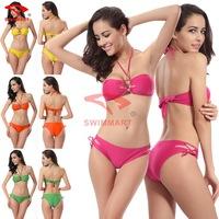 2015 new bikini set upscale Kim Halter bikini women swimsuit Poly chest sexy curvaceous swimsuit biquini vintage DM061