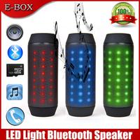 2014 New Bluetooth Mini speaker Portable Wireless +Bright colorful LED+ FM Radio+Handsfree Free Shipping