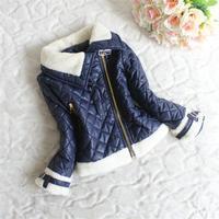2014 New Childrens Kids Girls Winter Fleece Wadded Jacket Zipper Outerwear Kids Jackets & Coats A4979