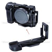iShoot Detachable Metal L-shaped Vertical Shoot Quick Release Plate/Camera Holder Bracket case for Sony NEX-7 Tripod Ball Head