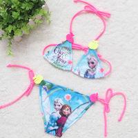 Anna Bikini Two Pieces Girls Swimsuit Europe and America Cartoon Kids Girl Swim Suit Children Frozen Swimwear for Baby Girls