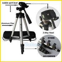 WT-3110A Universal Flexible Portable Camera Tripod With 3-Way Head For Sony Canon Nikon Digital Cameras With Carrying bag