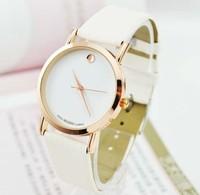 Hot sale 100pcs/lot Wholesale Gold Luxury Leather Quartz Watches wrist watch Free Shipping