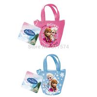 Frozen Princess Handbags High Quality 12pcs/lot Frozen Anna Elsa Fashion Cartoon Character Children Bag Frozen Mini Bags Stock