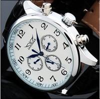 Top Quality 30pcs/lot Men White Automatic Watch 6 Hands Week/Date/24H Mechanical Wrist watch Free Shipping