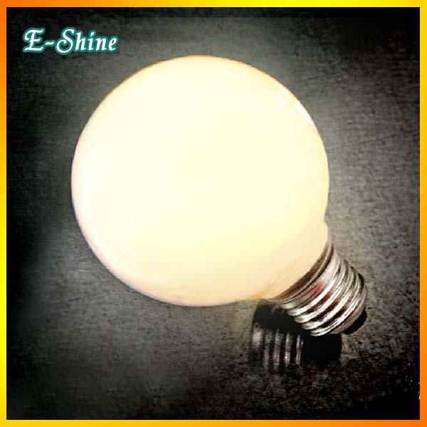 Light Bulb Globe 220V/110V 40W Spherical Edison Screw LED G80 Light Bulb Milk White Color(China (Mainland))