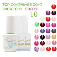 Cristina 230 Colors (Choose 10 Colors +Base +Top Coat)French Color Temperature Change Luminous Color Uv Soak Off Nail Gel Polish