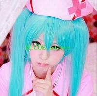 Vocaloid miku 120cm water blue cosplay wig