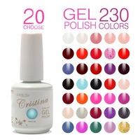 Choose 20 Colors Cristina 230 Colors Professional UV Nail Gel Polish Set Temperature Change Luminous Color Gel Varnish Free Ship