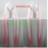 Vocaloid Sakura Miku mix white and pink cosplay wig