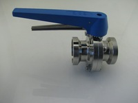 Stainless Steel 304 Sanitary I-Line Female Butterfly Valves for Food and Beverage, milk