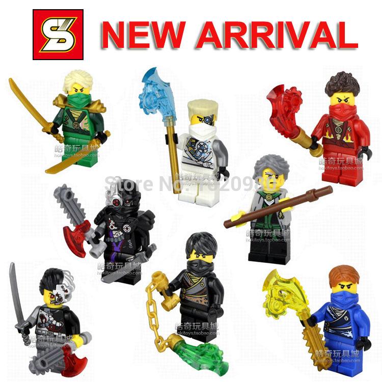 New Arrival Free Ship New 8 Sets/Lot Mini Figures Phantom Ninja Ninjago Series Child's Gift Toys Blacks Minifigures Brick Blocks(China (Mainland))