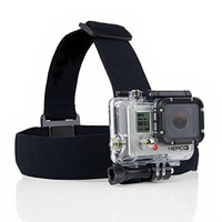Elastic Adjustable Head Strap Mount For Go pro Hero 3+ 2 1 Cameras / SJ4000 Accessories with anti-slide glue like original one