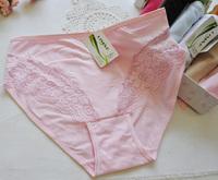DM9702 Free Shipping Hot Sale 2014 New Women Lace Panty Mid Waist Underwear