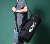 AC306 men grapheme nylon Duffel Travel sport bag Gym Bag Weekend Bag  black free shipping