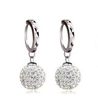10MM Shambhala Drop Earrings 100% Sterling Silver Jewelry Silver Earrings Top Quality!! Christmas Gift