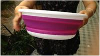 Portable folding creative basin