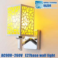 New style E27 led wall light bed lamp hotel restroom bathroom bedroom wall lamp AC90~265V RAZOR Lighting Freeshipping
