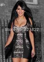 2014 new arrival black lace bandage Celebrity dress Party Evening porm woman Dresses HL dropship