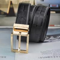 1:1  leather belt Gold buckle designs fashion business Classic black knight belt For men Formal Belt Drop shipping