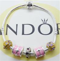 New arrived!! 10 pcs/lot Glass&Crystal European Charm Beads Fits Pandora Style Bracelets free shipping