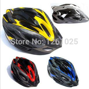 Cheap genuine carbon fiber helmet,riding mountain bike helmet,Non Integrally-molded bike helmet free shipping(China (Mainland))