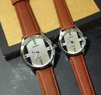 Unisex Bronze Vintage Watch Leather Strap Bracelet Hollow Dress Watch 5 colors Hot Sale ML0596