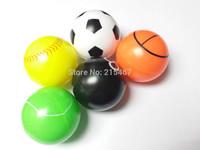 5X 49MM Color Plastic Balls ASSORTED DESIGN HALLOW INSIDE FOOTBALL basketball  toys party favor scope novelties favors