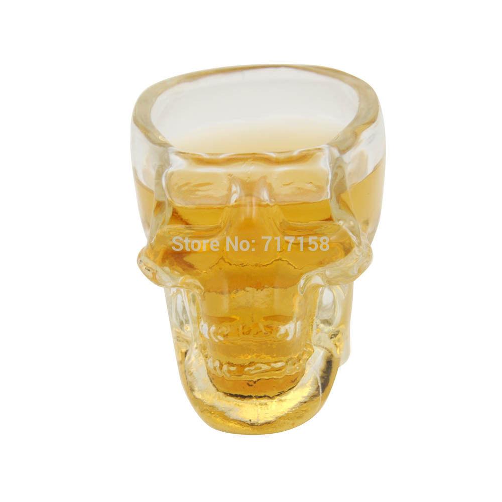 150ml New Crystal Skull Head Vodka Whiskey Shot Glass Cup Drinking Ware Home Bar(China (Mainland))