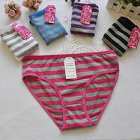 507A Free Shipping 2014 New Cotton Women Striped Panties Plus Size XXXL