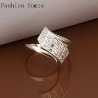 R267 New arrival this 925 sterling silver rings , sterling silver jewelry wholesale crystal ring for women