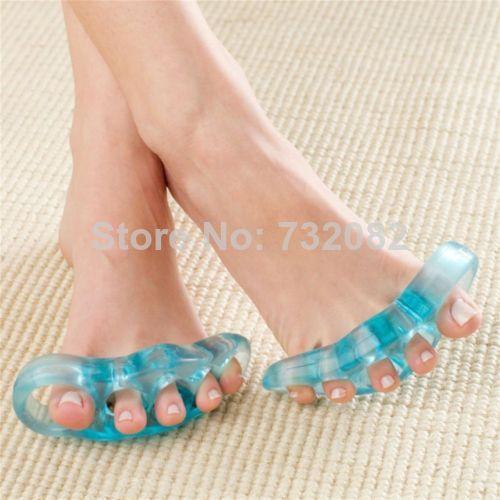 2pcs Toe Separators Stretchers Straighteners Gel Flex Toe Stretchers free shipping new E4509(China (Mainland))