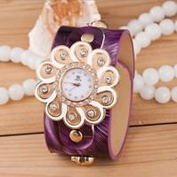 New Fashion Geneva Flower Watches Stylish Women Dress Watches Casual Quartz Watches