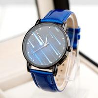 12 Colors High Quality Nice Blue Crystal Watch Women Ladies Fashion Dress Analog Quartz Wrist Watch ML0598