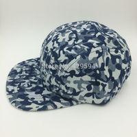 5 panel blank camp cap High quality Hip hop strapback cap all over camo custom headwear snapback cap baseball hat