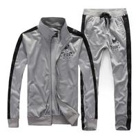 2014 Autumn New Sportswear Fashion Men's Casual Sports Suit Tracksuit Man Coat Jacket + Pants Male Sweatshirts Sets