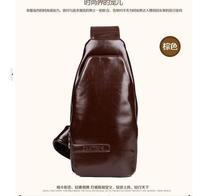 Free Shipping Men Messenger Bags PU Leather Travel Bag Chest Bag Men's Single-shoulder Bag 2 Colors Wholesale