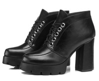 British high deep mouth with thick documentary shoes 2014 autumn new female, waterproof low help shoes