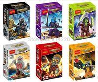 60pcs Decool Building Blocks Super Heroes Action figures Minifigures Guardians of the Galaxy ronan camora drax destroyer nebula
