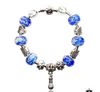 New arrived!! 6 colors Glass Beads Fit Europe pandora Charm Bracelets  2pcs/lot free shipping