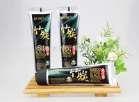 60g*1 bamboo charcoal Black toothpaste teeth whitening freshen breath suppress gums bleeding removing teeth stains dental cream