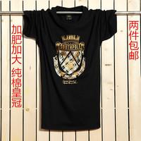 100% cotton short-sleeve loose t-shirt plus size plus size plus size men's clothing fat male t-shirt xxxxl