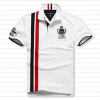 free shipping 2014 Promotion Loose Plus Size plus size Short-sleeve Men Tshirt  Cotton Turn-down Collar Casual tshirt man