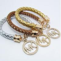 new arrived!!  Fashion brand Jewelry new 2014 leather bracelet men and women pulseiras femininas aliexpress free shipping