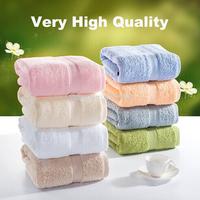 Free Shipping 100% Cotton Solid Color Satin Jacquard Bath Towel 70x140