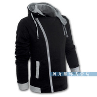 Autumn and winter plus size men's clothing plus size plus size male with a hood casual jacket male Large outerwear fashion coat