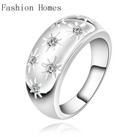 R504 New arrival this year 925 sterling silver rings , sterling silver jewelry wholesale crystal ring for women