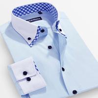 fashion Sarouya 2014 men's spring causal clothing white male businese shirt male long-sleeve korean slim commercial dress shirt