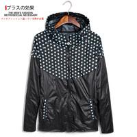 2014 autumn with a hood male casual jacket plus size fashion plus size plus size outerwear